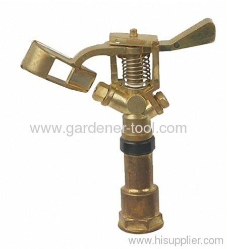 Zinc Water Water Hose Sprinkler With Brass Nozzle For Full Irrigation.