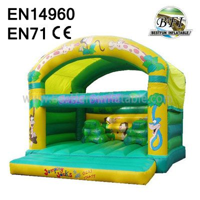 Green Zoo Inflatable Jumping Castle