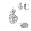 Knot Earrings, Pendant & Ring CZ Set