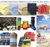 Stock solid and printed polar fleece blankets 50*60""