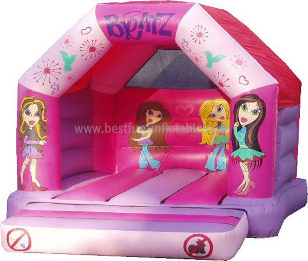 Pink Inflatable Girls Bounce House