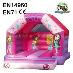 Pink girls' tower Inflatable Bouncy Castle
