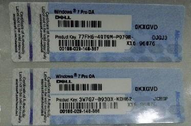 Dell COA License Label Sticker Product Key For Windows 7 ...