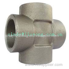 Forged Cross Fitting Hydraulic Adapter for High Pressure