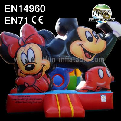 Hot Sale Inflatable Mickey and Minnie Moonwalks