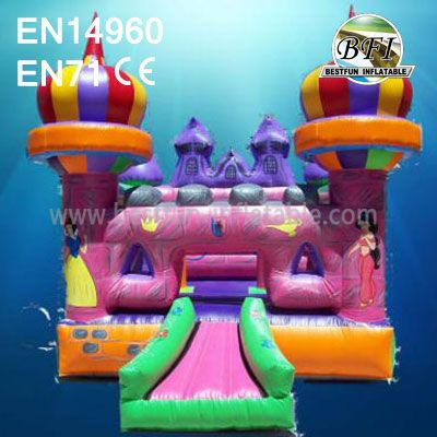 Pink Inflatable Princess Castle Play Set