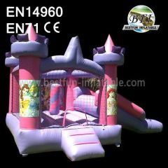 Pink Inflatable Princess Bouncer Combo