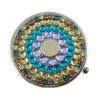Claw Chain Crystal Rhinestone Round Pill Case