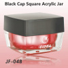 100 ml square red acrylic jar