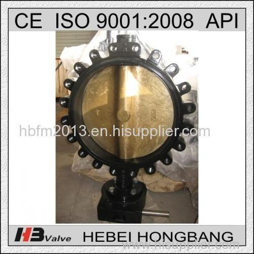 Cast Iron /Ductile Iron Worm Gear Lug Butterfly Valve