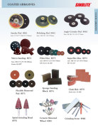 Coated abrasives: Sander pad, Polish pad, Fibre disc, ceramic mounted wheel