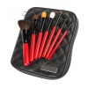 7PCS Professional Cosmetic Brushes with Red wooden handle