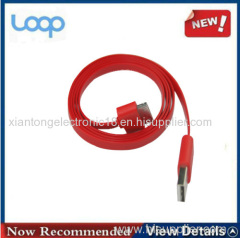 Factory Price Flat Usb Cable For Iphone4,Many Color Choose