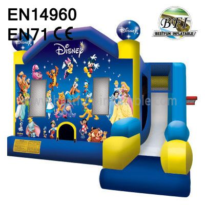 Disney World Inflatable Bounce House Castle With Slide