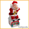 sitting on the roof play sax Santa Claus
