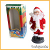 Santa Claus standing and sining