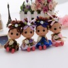 12cm roses dress plastic confused doll