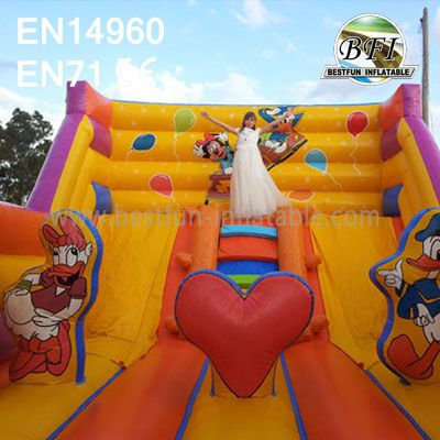 Big Commercial Inflatable Park Dry Slide