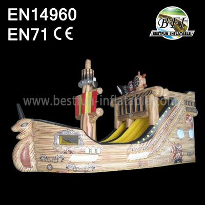 Hot Sale Pirate Ship Inflatable Long Slide