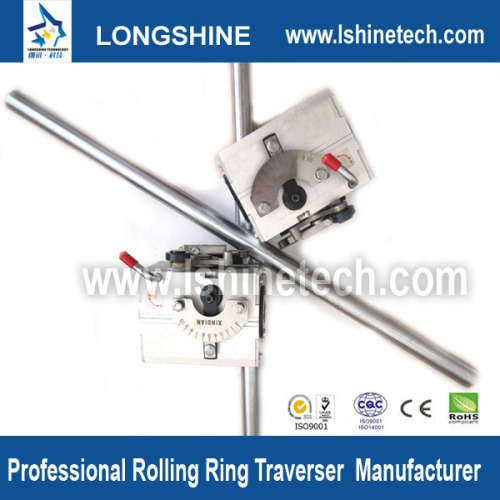 Polished shaft rolling ring drive linear motion guideways