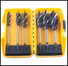 4 Flute Auger Bit 6pcs Length 165mm; size: 12-16-18-20-2-25-32MM packed in plastic box.