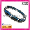 Grit grinding blue germanium stainless steel jewelry