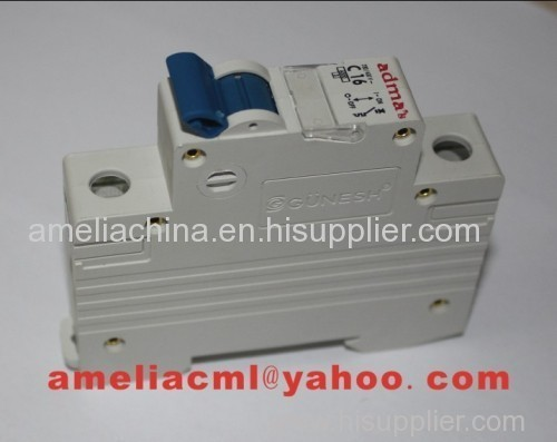 gunesh oem admas adma's low voltage miniature circuit breaker mcb mini breaker fuse breaker current breaker