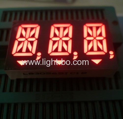 14 Segment LED Display,3-Digit 0.56-inch Super bright Red for Digital Indicators
