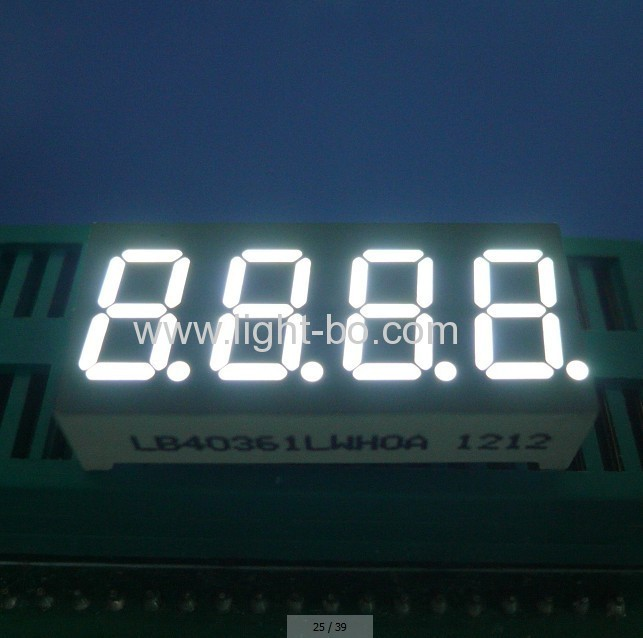 High brightness White Series 7 Segment LED Display
