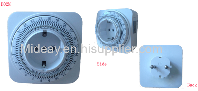 Mechanical daily timer with Germany plug and socket