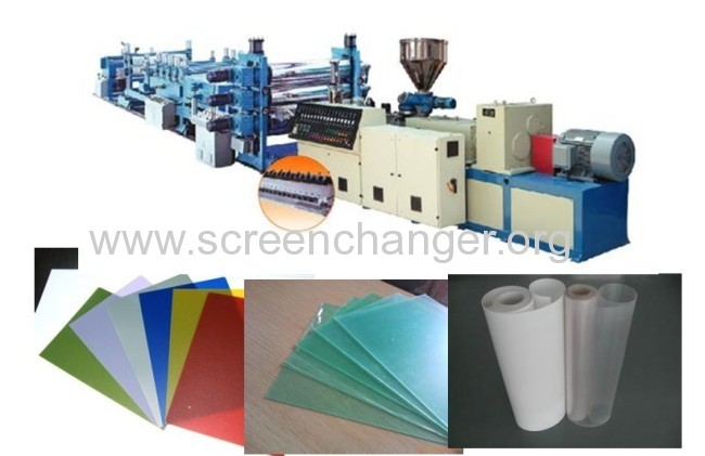 Hydraulic plate screen changer for plastic extrusion machine