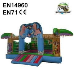 Inflatable Cartoon Jungle Castle for kids