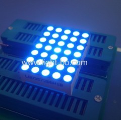 "1.26"" 3mm 5 x 7 Blue dot matrix led display for moving signs,Elevator position indicators"