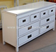 antique white counter 8 drawers