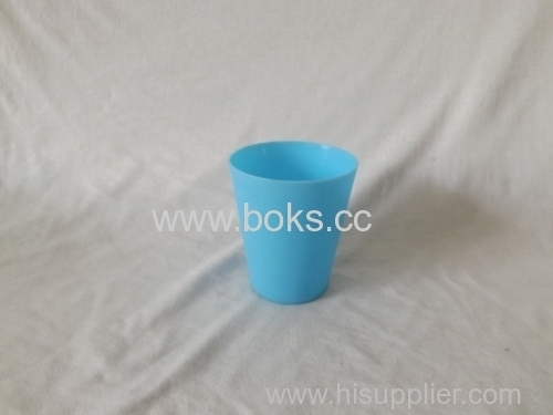 small blue plastic water cups
