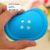 Button shape cup coaster