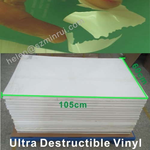 Ultra Destructive Vinyl Film Sheets Easy Broken