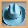 fashion wide brim straw cowboy hat