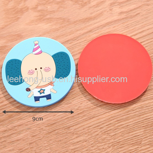 Custom soft pvc cup coaster