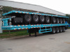flatbed container semi truck trailer