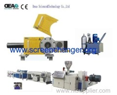 Plastic extruder screen changer
