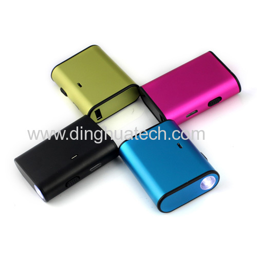 Colorful LED Torch LightMobile power supply with 4000MAH capacity