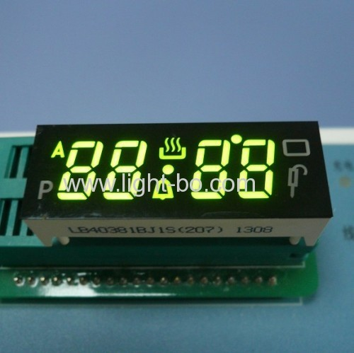 "Custom Green oven display, 4-digit 0.38"" with Operating Temperture 120C"