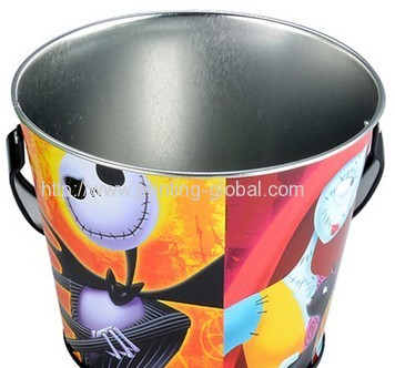 Hot stamping foil for plastic bucket with handle