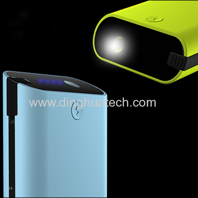 High Capacity LED Torch LightMobile power supply with 6000MAH