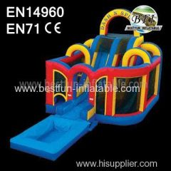 Inflatable bounce Castle combo with slide