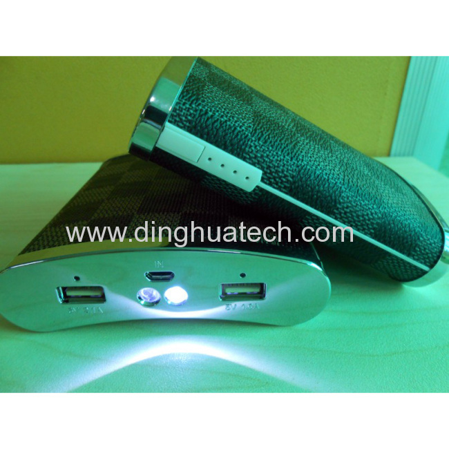 New desigh Wine Pot Shape Mobile power supply with double LED torch light & double USB output