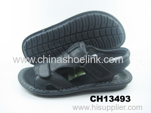 Best black boy summer dress sandals manufactor