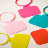 Fashionable travel silicone luggage mark, silicone luggage tag