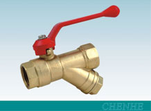 MS58 Brass ball valve with strainer